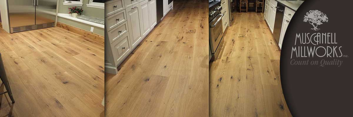 Cathedral cut white oak flooring