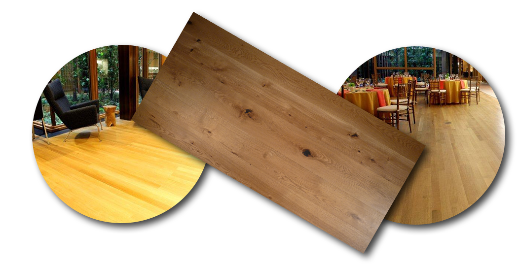 Cathedral Cut White Oak Solid Wood Flooring