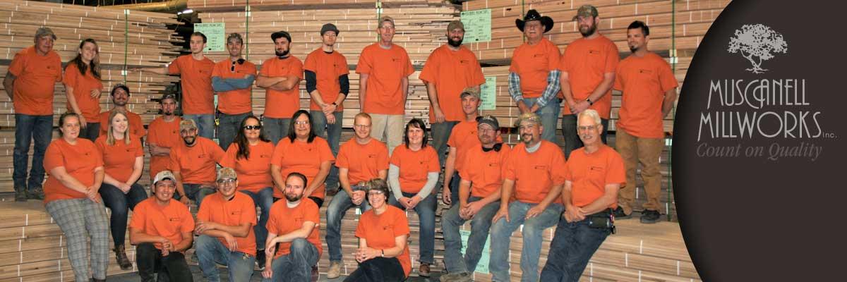 Muscanell Millworks 2020 crew makes hardwood flooring